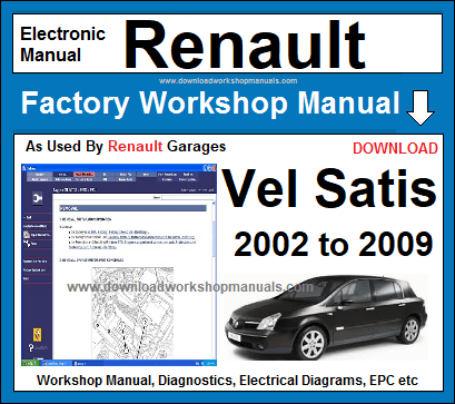 renault vel satis workshop service repair manual download download rh downloadworkshopmanuals com