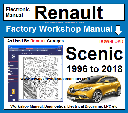 renault scenic service repair workshop manual