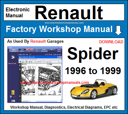 renault spider service repair workshop manual