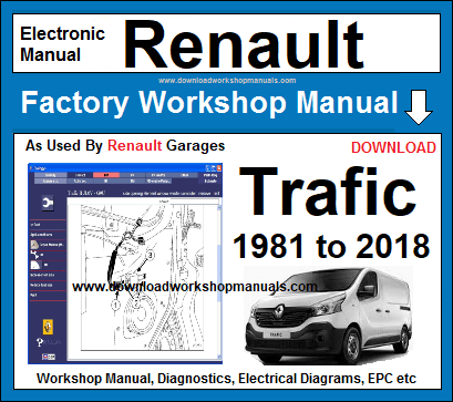 renault trafic service repair workshop manual
