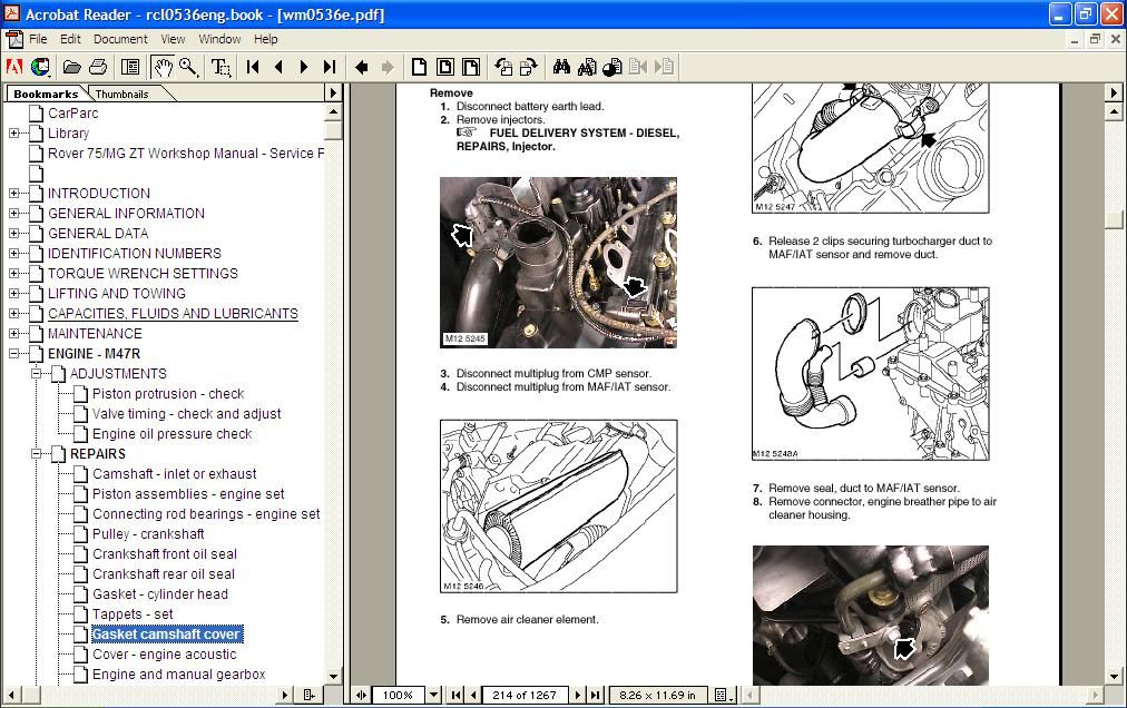 Rover 75 Maintenance repair manual