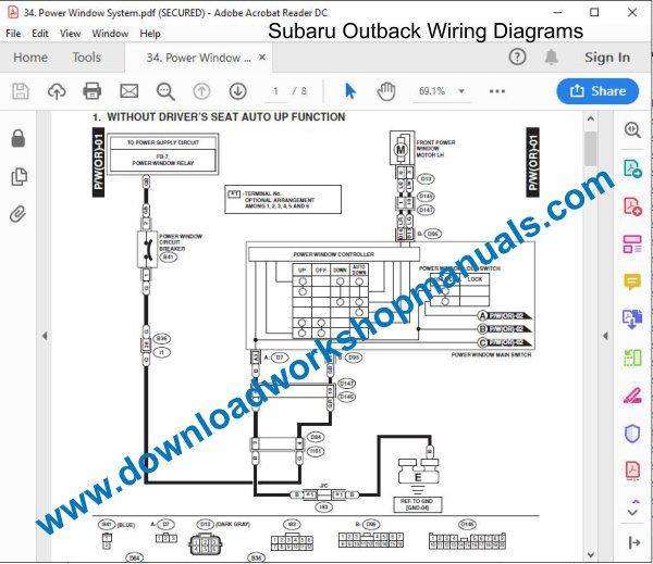 Subaru Outback Workshop Repair Manual
