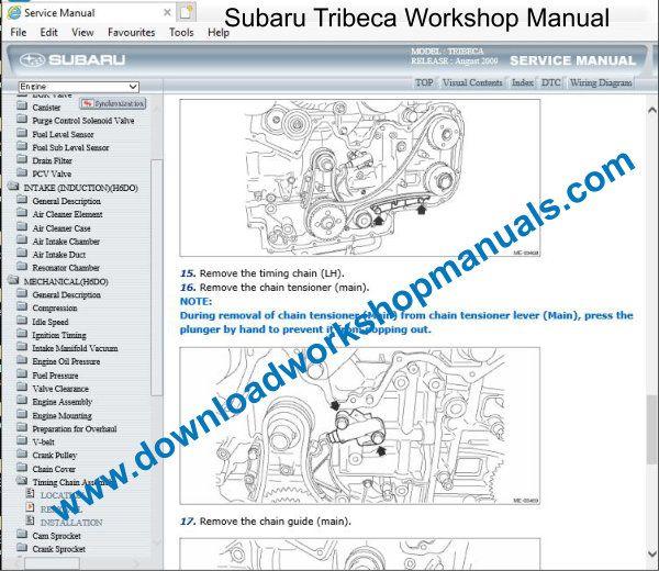 Subaru Tribeca Workshop Repair ManualDownload Workshop Manuals .com