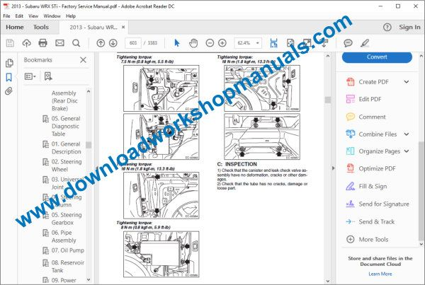 Subaru WRX service manual cooling system