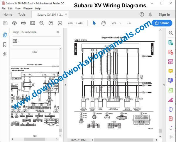 Subaru XV Wiring Diagrams