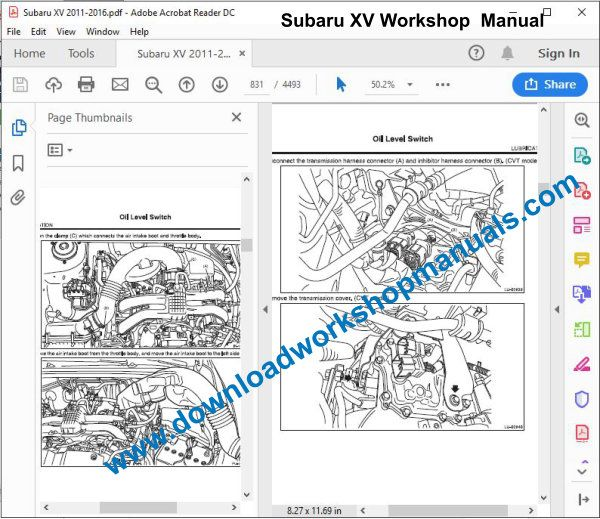 subaru xv workshop manual