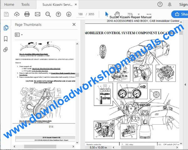 Suzuki Kizashi Repair Manual
