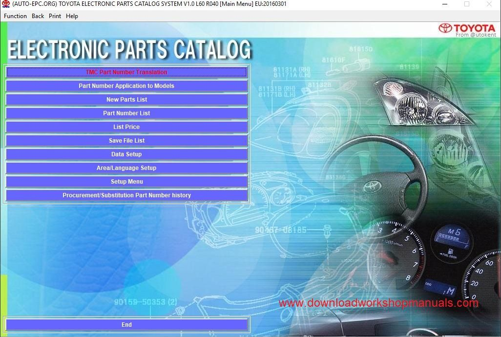 toyota EPC  electronic parts catalog