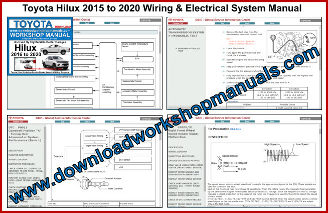 Toyota Hilux 2015 to 2020 Wiring & Electrical System Manual