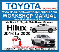 Toyota Hilux 2016 to 2020 Service Repair Workshop Manual pdf